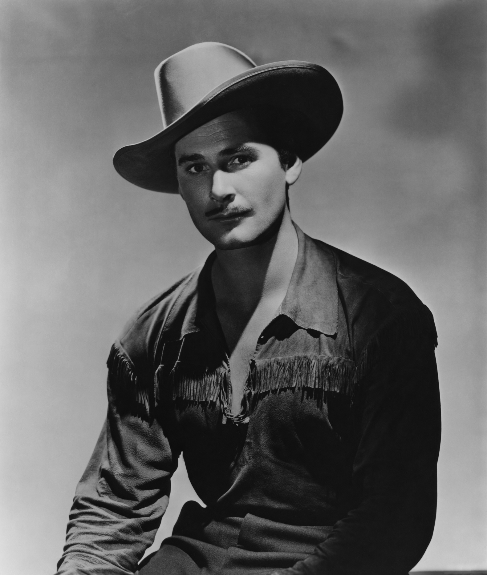"Errol Flynn in a promo shot for ""Dodge City"""