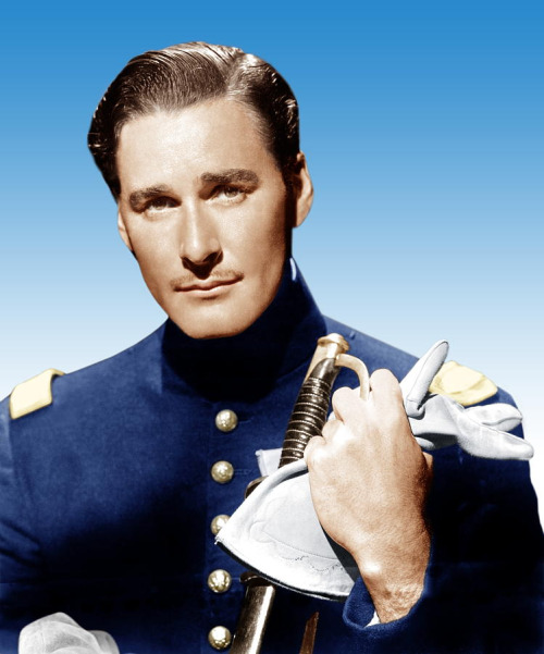 "Errol Flynn in a promo shot for ""The Santa Fe Trail"""
