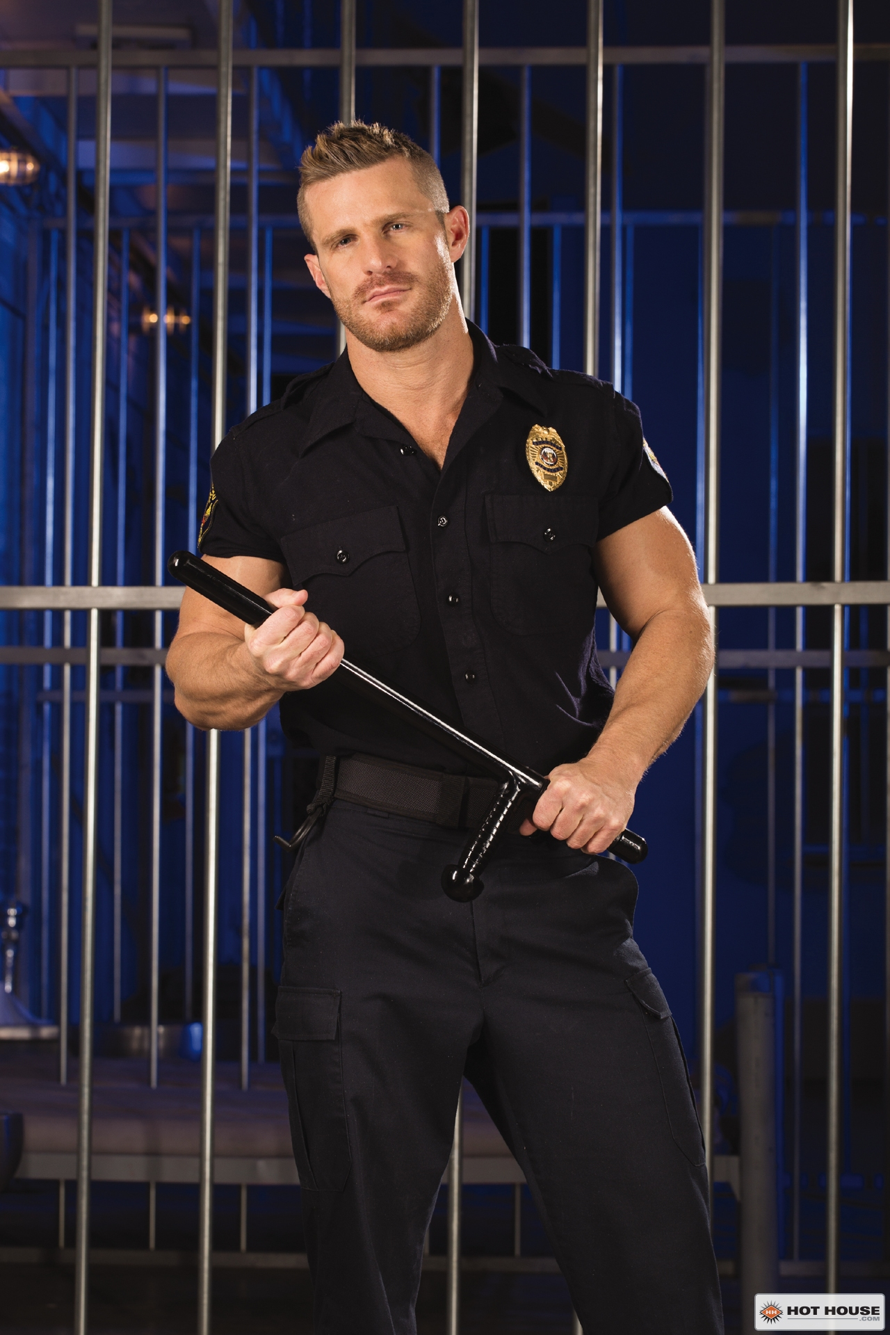 Landon Conrad as a cop