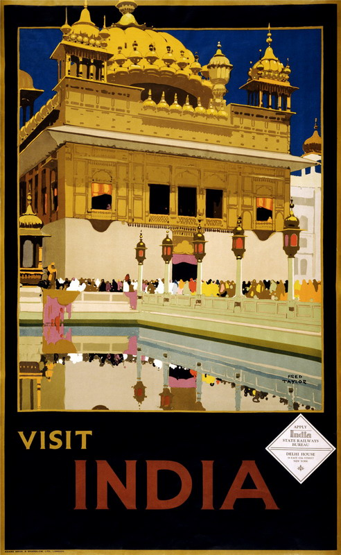 India Travel Poster, 1930s