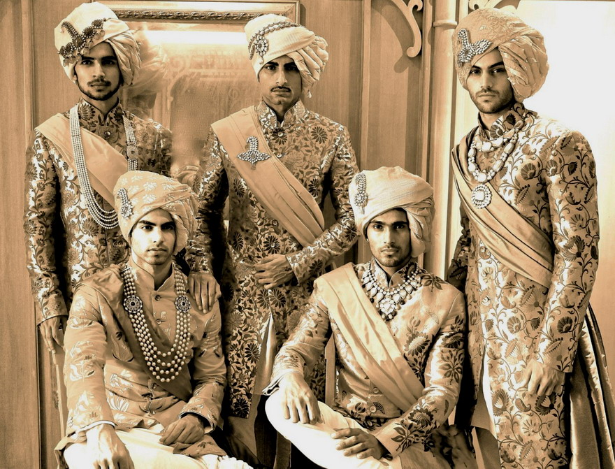 5 Indian men blinging out