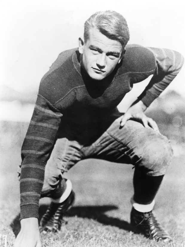 John Wayne as a football player before he became a movie star