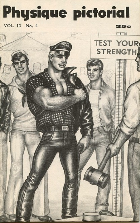 Physique Pictorial cover illustration by Tom of Finland