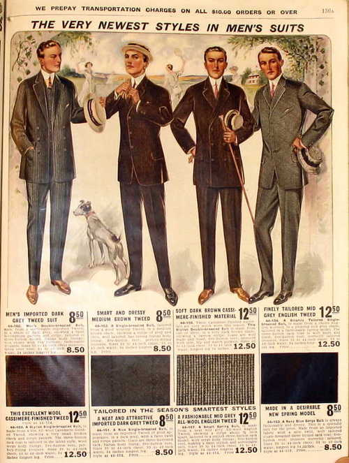 Men's summer suits, circa 1910?