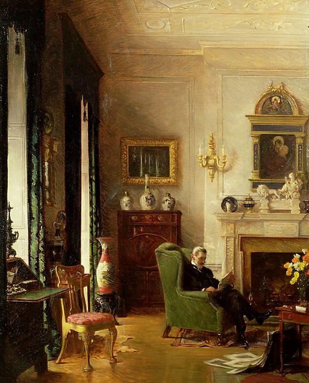 The Grey Drawing Room, by Albert Chevallier Tayler