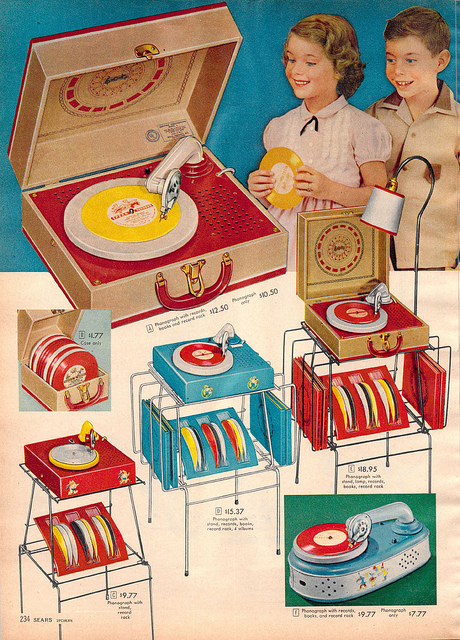 Children's record player, 1950s