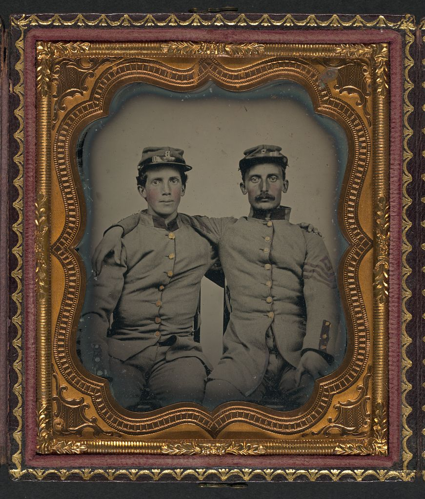 US Civil War soldiers together (Confederate, I think)