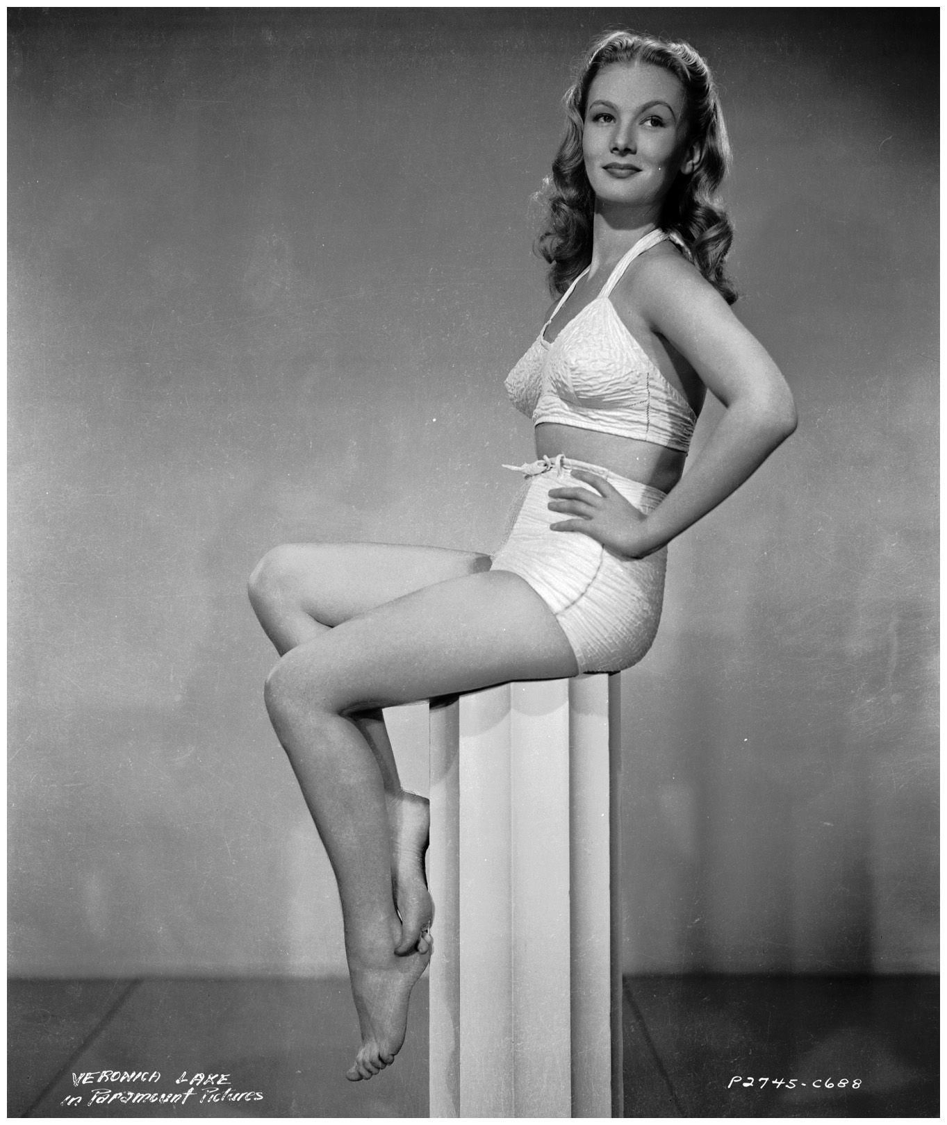 Veronica Lake in a swimsuit