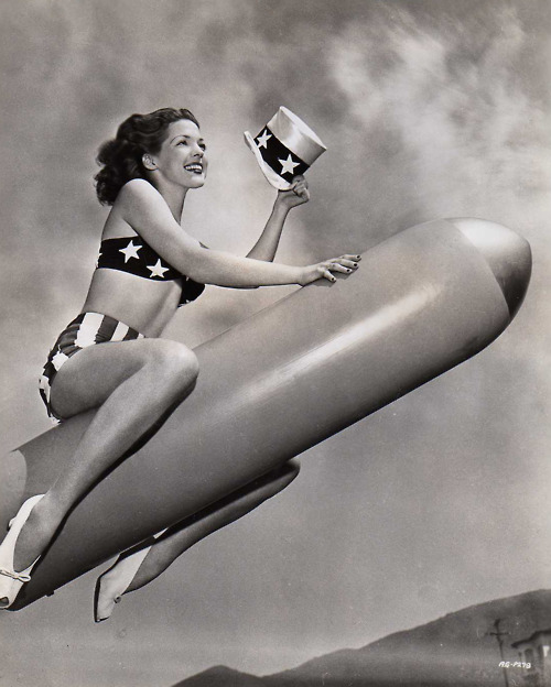 Riding the rocket to victory! (WWII era)