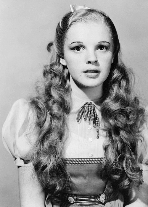 Judy Garland – pre-filming wardrobe check photo, Wizard of Oz, 1939