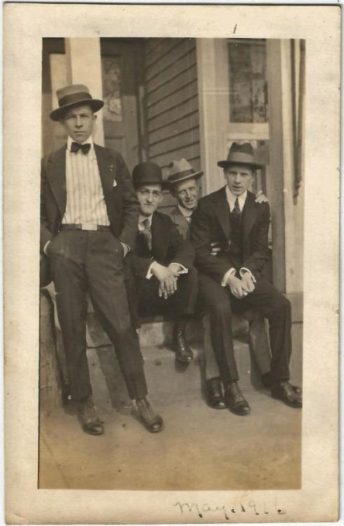 1916 Four MenTogether