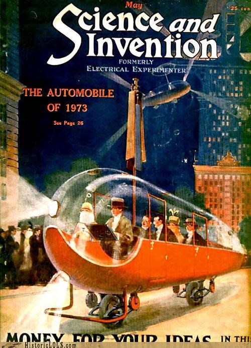 The automobile of 1973 as imagined in1933