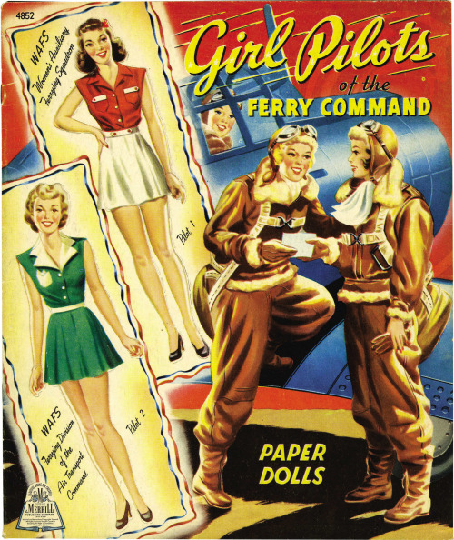 Girl Pilots Paper Dolls, WWII Era