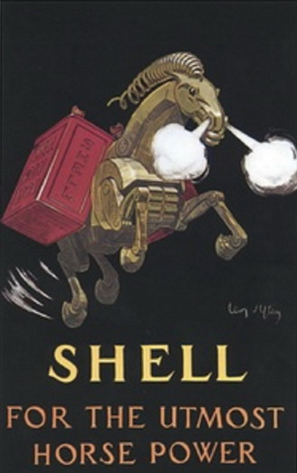 Vintage (1910s?) Shell motor oilad