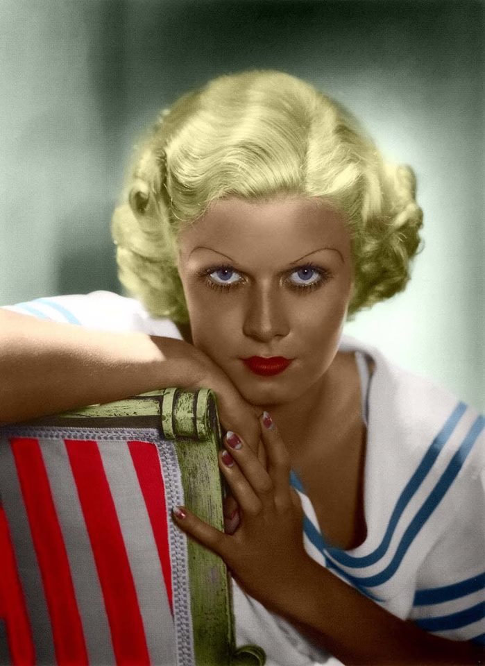 Colourized picture of Jean Harlow
