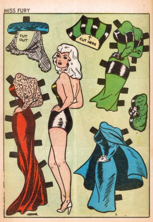Miss Fury Paper Doll