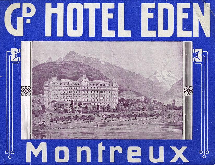 Hotel Eden, Montreux, Switzerland/Suisse