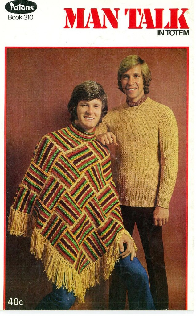 1970s Men\'s Knit Poncho, With Collar | Matthew\'s Island of Misfit Toys