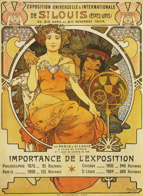 St Louis Expo 1904, poster by Alphonse Mucha