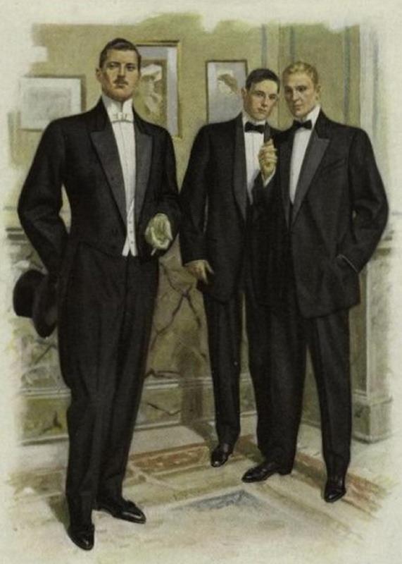 Evening wear for men,1930s