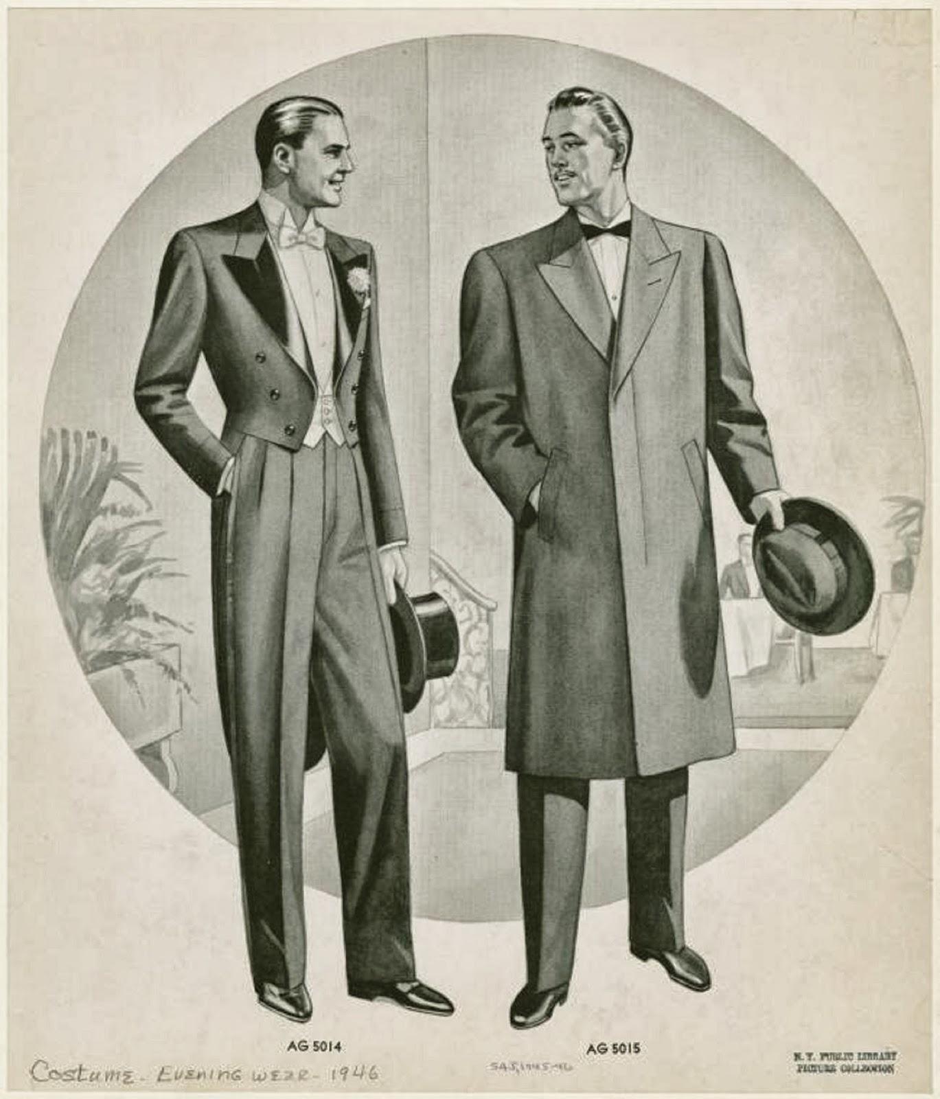 Evening wear for men,1946