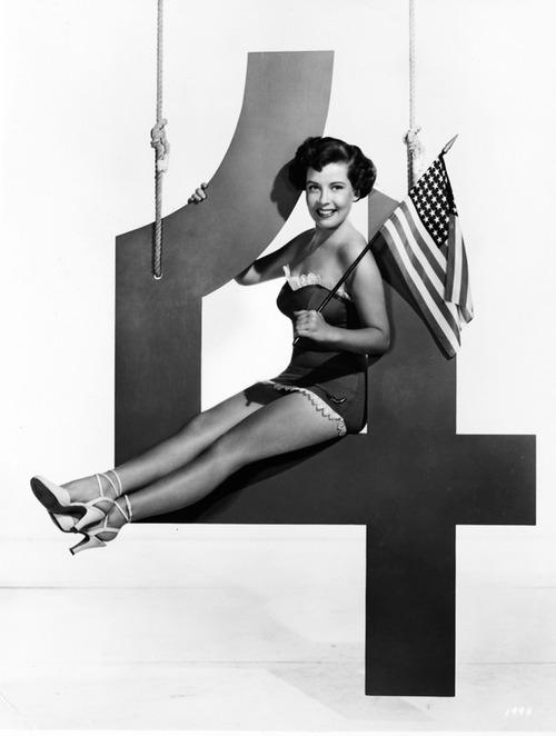 Gloria DeHaven wishing everyone a happy July4th