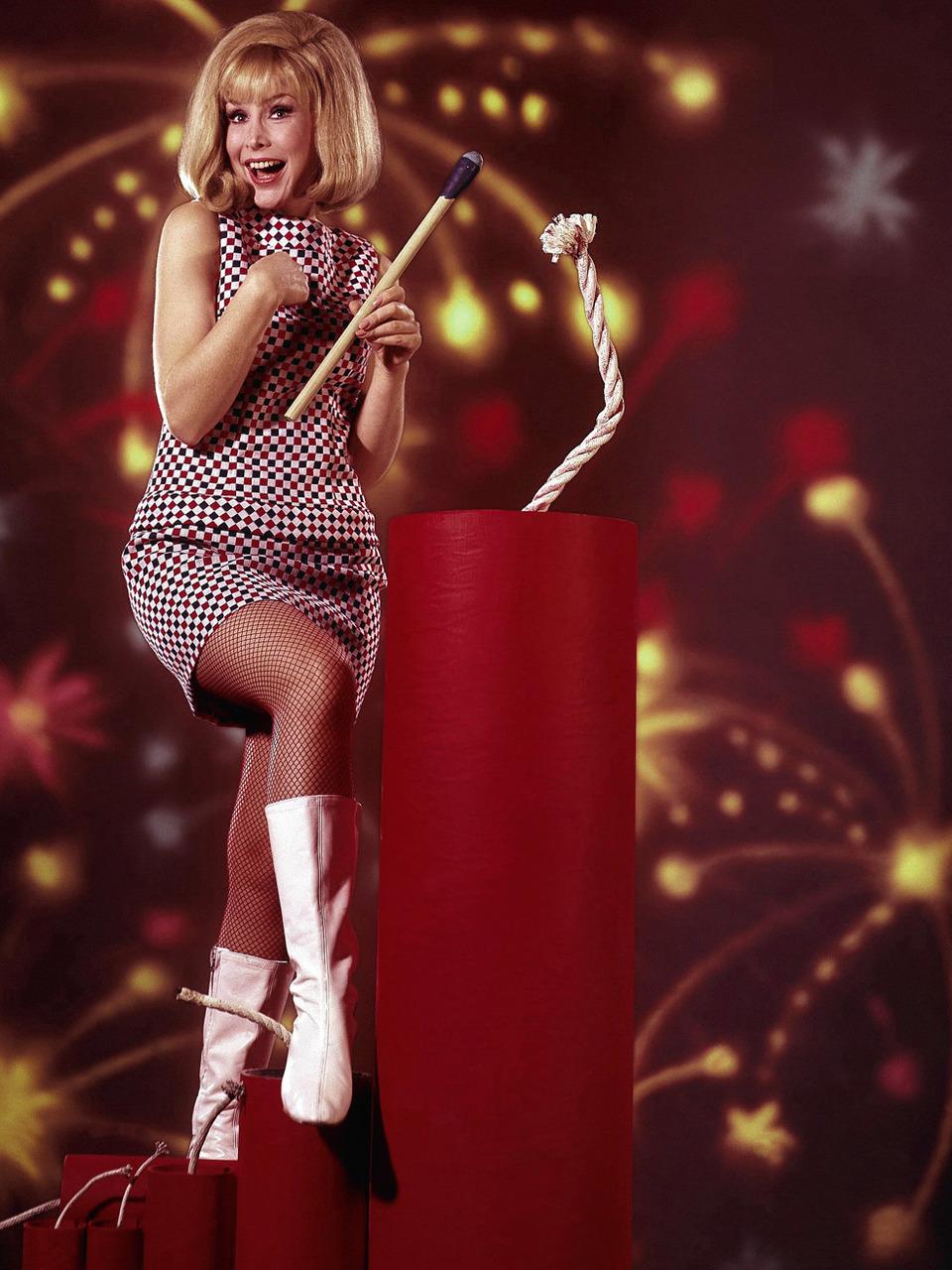 Barbara Eden wishing everyone a happy July4th
