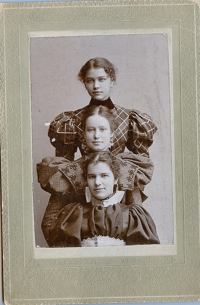 Three women, 1800s, US
