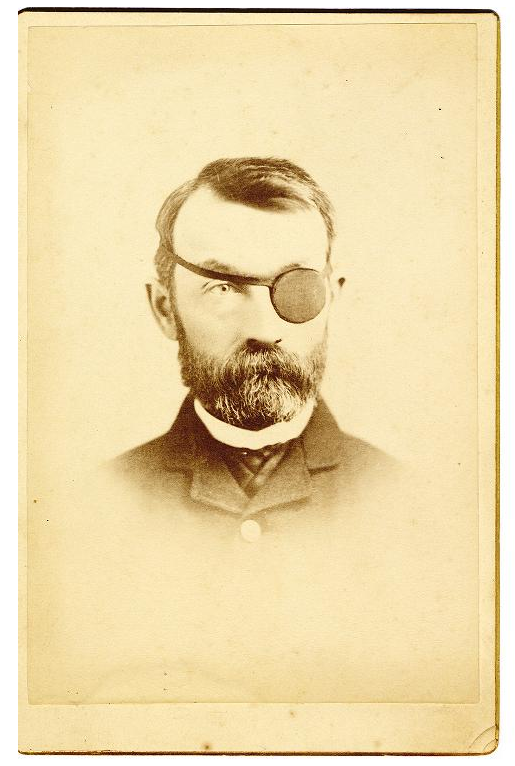 Beard and eyepatch