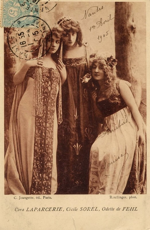 Three French Actresses, 1905
