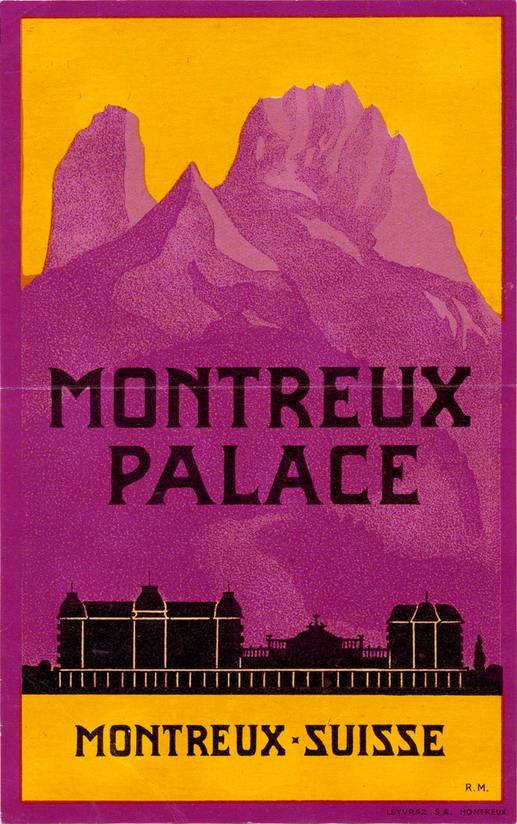 Hotel Montreux Palace,Suisse