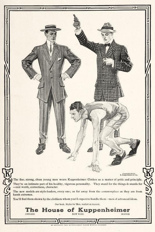 Leyendecker illustration forKuppenheimer