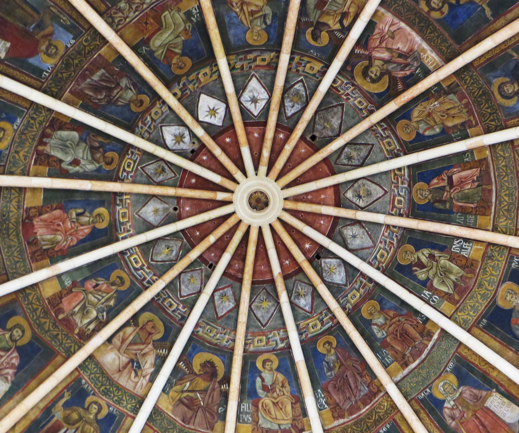 Saints on a ceiling