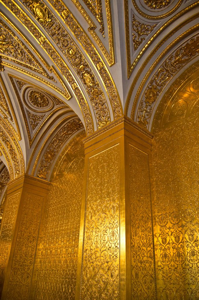 Details from inside one of the Russian royal palaces