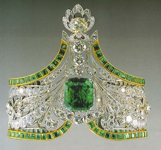 Emerald bracelet from the Russian royal family jewels