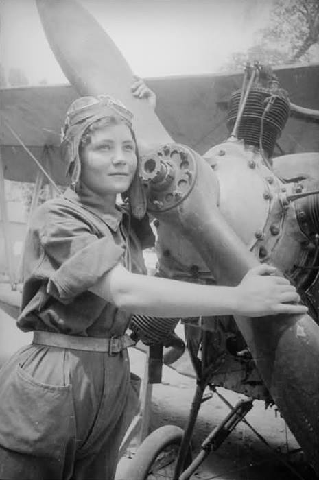Soviet female pilot, WWII era