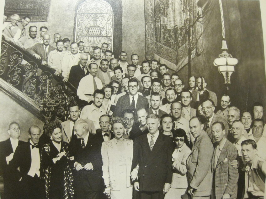 "The cast and crew of ""Sunset Boulevard"", 1950"