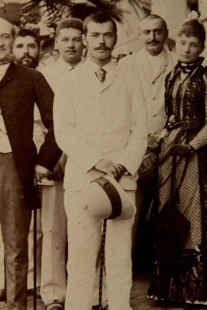 Tsarevich Nicholas Alexandrovich in Saigon, 1891.