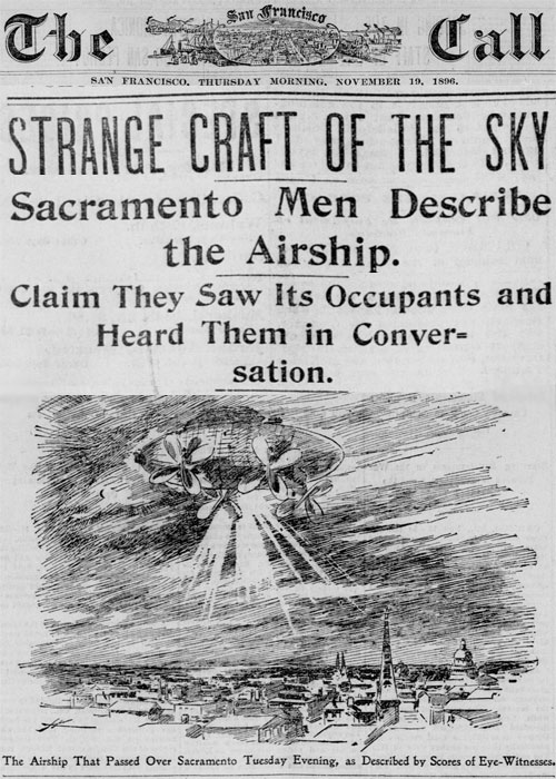 UFO over Sacramento, California, 1896