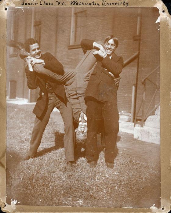 "'Junior Class, ""93"" Washington University.' Photograph, ca. 1893. Missouri History Museum Photographs and Prints Collections. Groups. n21079."