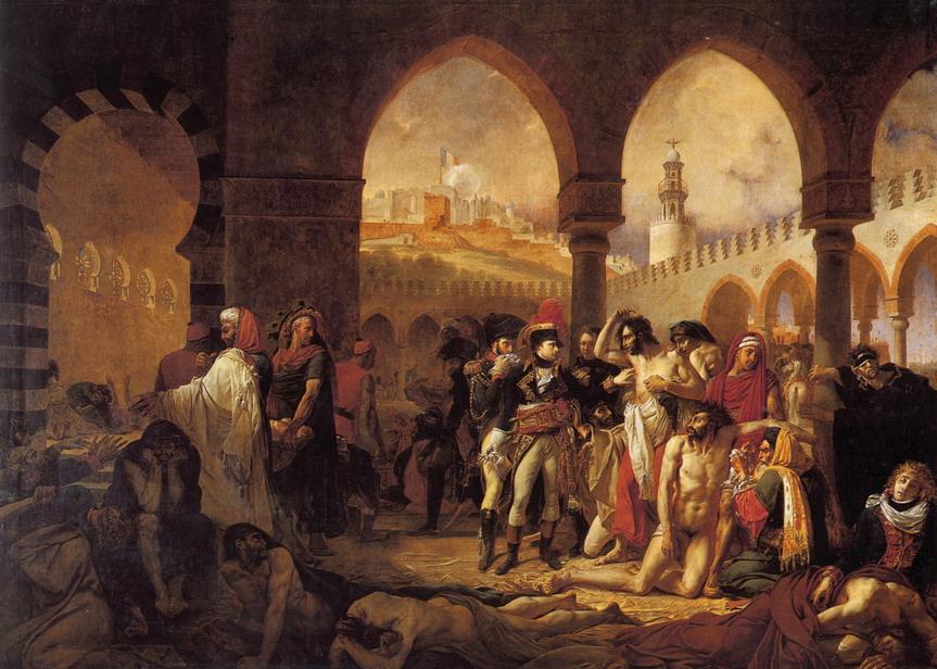 Napolean Bonaparte visitant les pestiférés de Jaffa en Palestine (par Antoine-JeanGros)