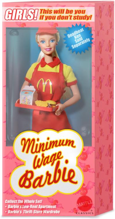 barbie min wage