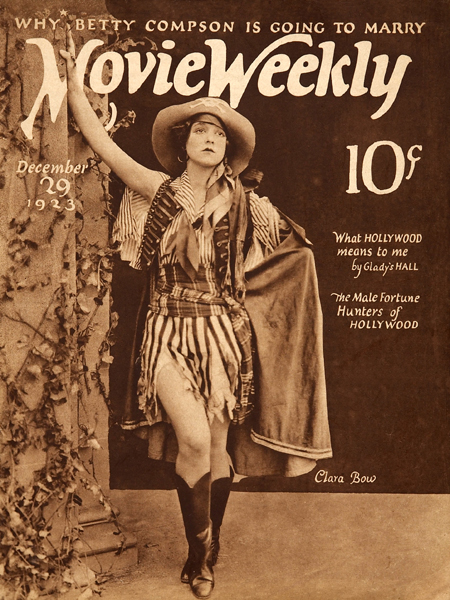 "Clara Bow on the cover of ""Movie Weekly"", 1923"