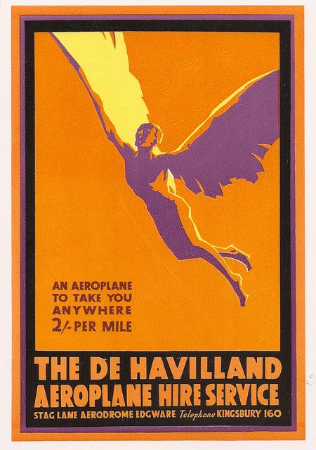 De Havilland hire advert