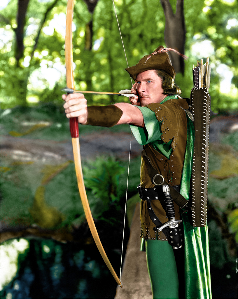 "Errol Flynn in ""RobinHood"""