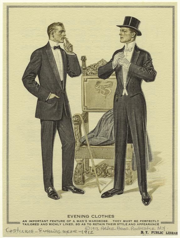 Evening clothes, 1912