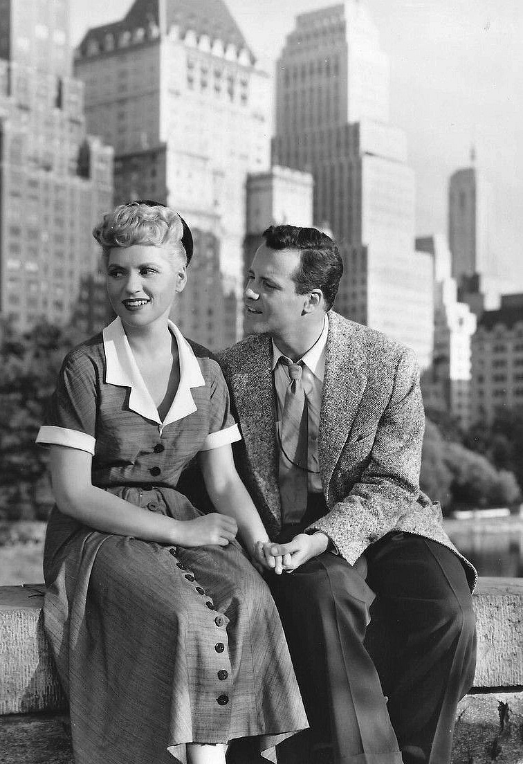 """Judy Holliday and Jack Lemmon in """"It Should Happen to You"""",1954"""