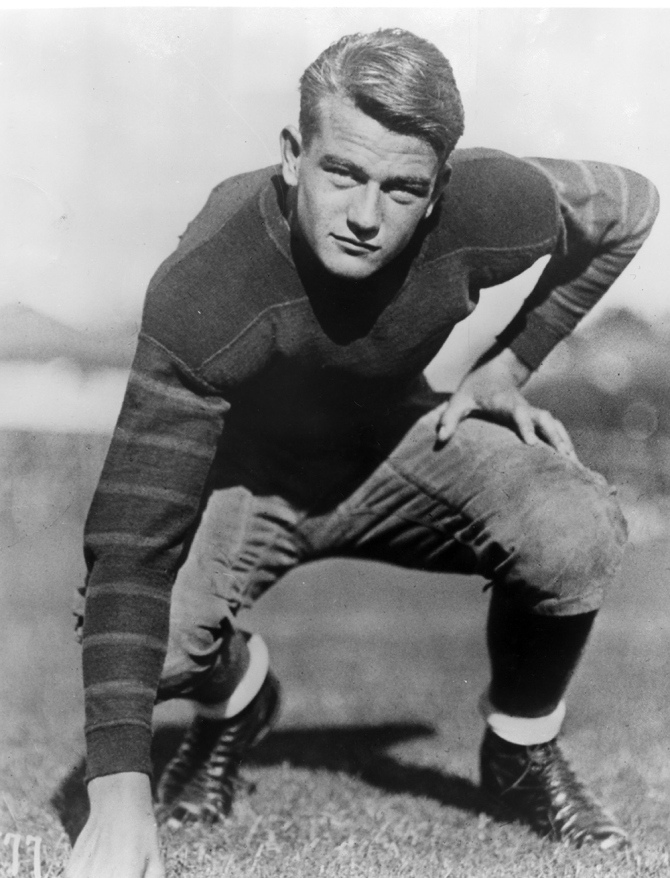 John Wayne in his college football years