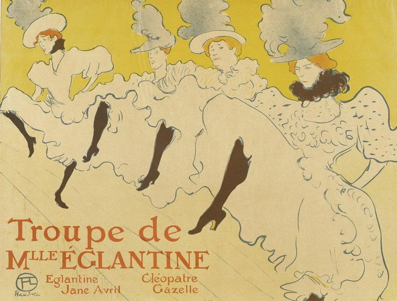 La Troupe de Mademoiselle Elegantine par Henri de Toulouse-Lautrec