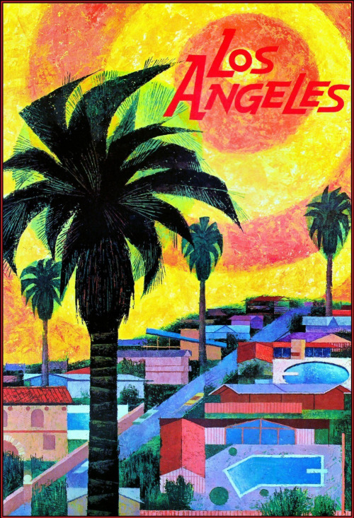 Los Angeles poster, 1960s